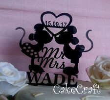 Acrilico Mickey Minnie Mouse Matrimonio, Anniversario Cake Topper Decorazione