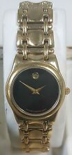 Movado Ladies Museum Gold Tone Watch Sapphire Crystal Stainless Steel with Box