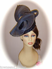 Gwyther Snoxell Dark Grey Fascinator for Races Weddings & Formal
