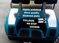 Club Car DS Golf Cart Diamond Plate FULLSIZE NO STEP COVERS