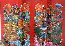 2 CHINESE RED L DOOR WALL PARTY BANNER GOD OF PROTECTION NEW YEAR HOME PARTY