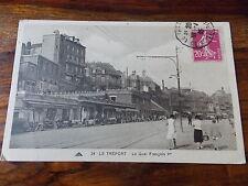 Carte postale ancienne Le Tréport Quai Francois 1er Haute Normandie 1935 CPA
