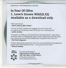 (DC679) In Fear of Olive, Love's Grown Wild - 2012 DJ CD