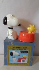 Treasure Craft Snoopy And Woodstock The Bird Salt and Pepper Shakers MIB #H846