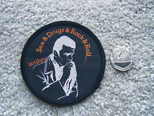 IAN DURY - BLOCKHEADS VINTAGE SEW PATCH - BADGE - SEX & DRUGS & ROCK & ROLL