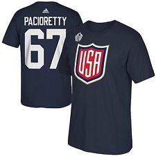 USA Max Pacioretty 2016 World Cup Of Hockey Name Number T-Shirt Navy Blue Sz XL