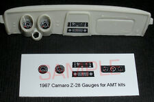1967 CAMARO Z28 GAUGE FACES! - for 1/25 scale AMT KITS