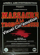 Affiche 40x60cm MASSACRE A LA TRONCONNEUSE - VERSION INTEGRALE 1975 Tobe Hooper