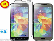 5 X Pcs Clear Screen Protector Guard Film For Samsung Galaxy S5 SV SM-G900 i9600