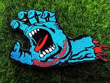 SpeedWheels Santa Cruz Screaming Hand Skateboard Embroidered Iron on Patch