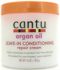 CANTU ARGAN OIL LEAVE-IN CONDITIONING HAIR REPAIR CREAM DEEP MOISTURIZER 16 OZ.