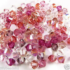 Swarovski 5328 Xilion Bicone Mixes 4mm Pinks 100 beads