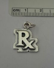 Sterling Silver 19x14mm Pharmacy Pharmacist says RX Charm