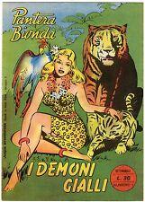 fumetto PANTERA BIONDA ANNO 1954 COLLANA JUNGLA AVVENTUROSA NUMERO 1 DA EDICOLA