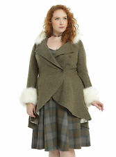 new Outlander Claire Fraser hooded riding coat faux fur, Hot Topic, plus size 3X