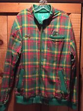 Lng Geans Roots And Equipment Green Plaid Check Light Jacket Size Large NEW