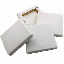40 x WHITE MINI SMALL SQUARE CANVAS ACRYLIC/OIL PAINT 7CM DRAWING SKETCH BOARD