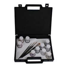 Squires Kitchen Professional Commestibile Cibo VERNICE 10 VASI KIT PAINTBRUSHES & Custodia