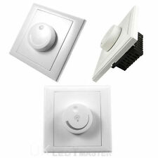 1 Gang 1 way Rotary Wall Dimmer Control for GU10 E27 lamps LED Light Switch 220V
