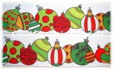 1.5 OH SO FABULOUS ORNAMENTS CHRISTMAS GROSGRAIN RIBBON 4 HAIRBOW BOW