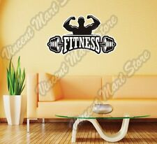 """Fitness Gym Exercise Workout Health Wall Sticker Room Interior Decor 25""""X17"""""""