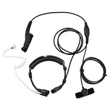 Military Throat Mic Headset Earpiece for Motorola Radio DGP8050 DGP8550 XPR4500