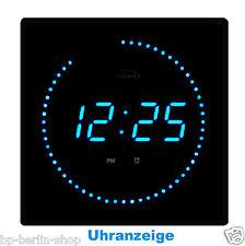Led Digitaluhr digital wanduhr Wohnzimmer Küchenuhr Nachbeleuchtung EV-Blau