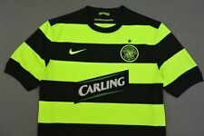 2009-10 NIKE Celtic GLASGOW NEON Football Jersey  Away Shirt SIZE XL (adults)