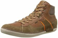 GEOX Breathes Men's U Box (High Top) Fashion Sneaker - Camel - 42M (EU) 9 (US)
