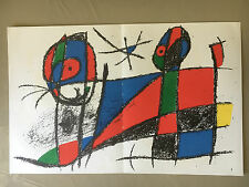 Rare! Joan MIRO Authentique Lithographie Originale  Maeght Abstract