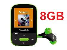 SanDisk Sansa Clip Sport LIME 8GB Digital Media Player MP3 LCD Radio Micro SD
