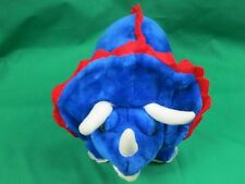"15"" BIG ROYAL BLUE BJ TOY *AWESOME STUFFED TRICERATOPS DINOSAUR COLLECTIBLE TOY"