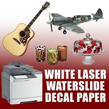 "*5 sheets 8.5""X11"" laser PRINTER waterslide decal paper WHITE"