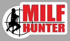 PIN UP SEXY MILF HUNTER HUMOUR BIKER 12cmX7cm AUTOCOLLANT STICKER AUTO MA210