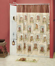 Linda Spivey 18-Pc Set Lodge Country Outhouse Shower Curtain and Bath Accessory
