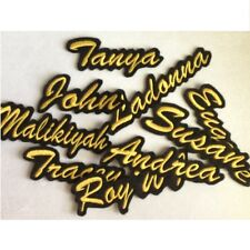 Custom Embroidered Name Patch Badge Work Shirt Tag Business Biker Motorcycle Tab