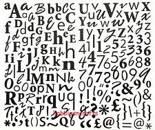 Dovecraft Glitter Pegatinas del Alfabeto-Superior & Inferior Estuche + números y símbolos