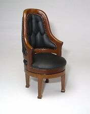 Miniature dollhouse George Washington swivel chair 1:12 scale
