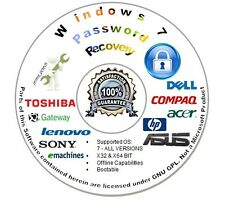 Password Recovery | Reset CD for Microsoft Windows 7 - Auto Boot Unlock Disc