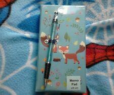 Fox memo pad and pen