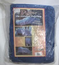 Blue Vinyl Poly Canopy Tarp Super Strength 20 x 30 P-line