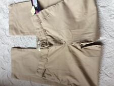 NWOT Girls Cherokee Khaki Ultimate School Wear Pants Uniform Size 12P Nanotex