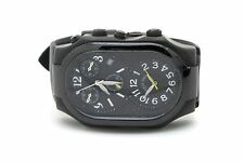 Men's Philip Stein Signature Chronograph Black Double Dial Watch on Rubber Strap