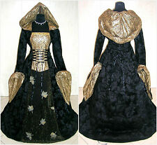 HALLOWEEN DRESS 16-18-20 L-XL-2XL MEDIEVAL GOTH WITCH COSTUME LARP VAMPIRE WICCA