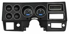 1973-1987 Chevy Truck C10 Black Alloy & Blue Dakota Digital VHX Analog Gauge Kit