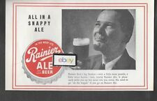 RAINIER ALE & LAGER BEER SEATTLE WA, 1937 ALL IN A SNAPPY ALE BIG BROTHER AD