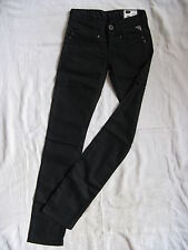 Replay Damen Black Jeans Röhre Stretch Denim W25/L34 low waist slim fit pipe leg