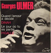 "GEORGES ULMER ""DINAH"" 60'S EP JAZZ VOCAL CONCERT HALL V-576"