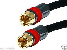 15ft PREMIUM Digital Coaxial Audio/Video RCA Cable Cord M/M RG6U Coax Gold Sub