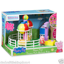 New Peppa Pig Theme Park Balloon Ride Playset Toy with figure Fair Ground 3+